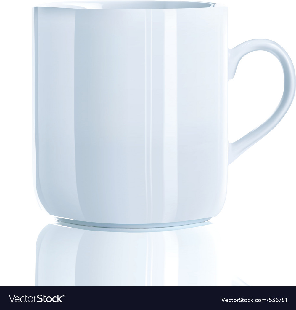 illustration of realistic cool tea cup over vector