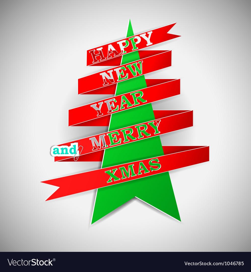 Happy new year and merry xmas vector