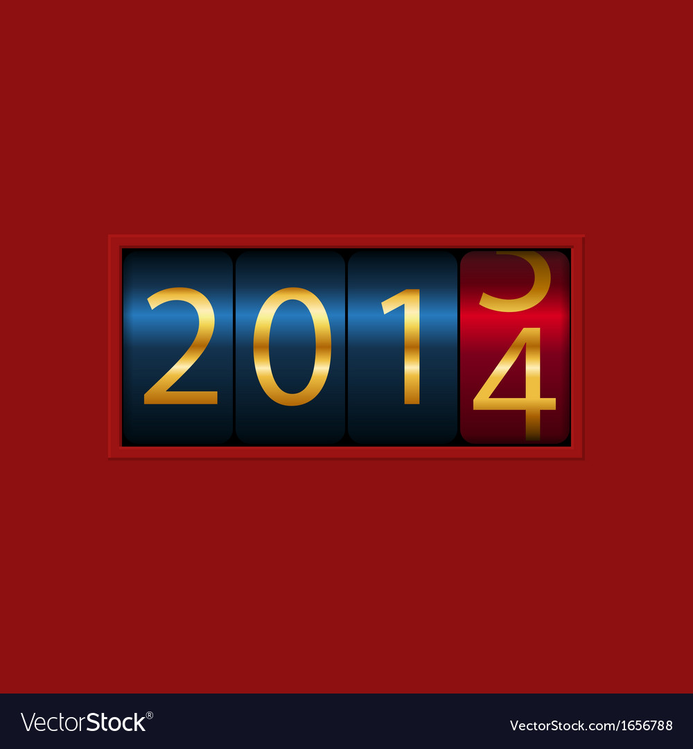 New year counter 2013 2014 isolated vector