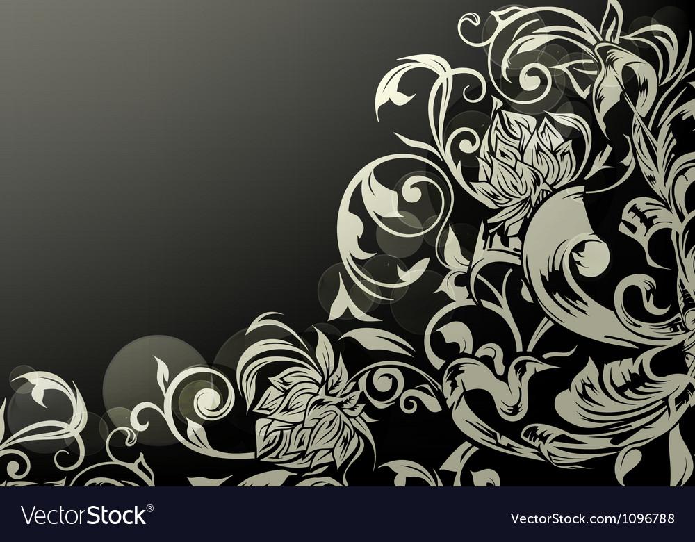 Wallpaper decor on black vector