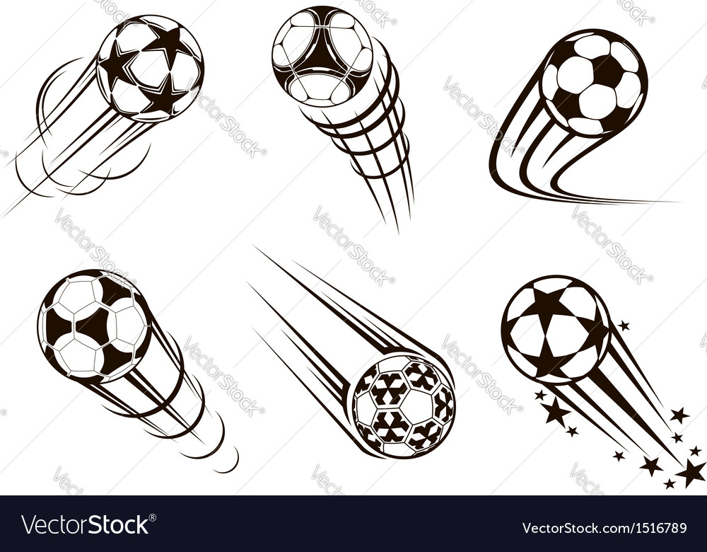 Soccer and football emblems vector