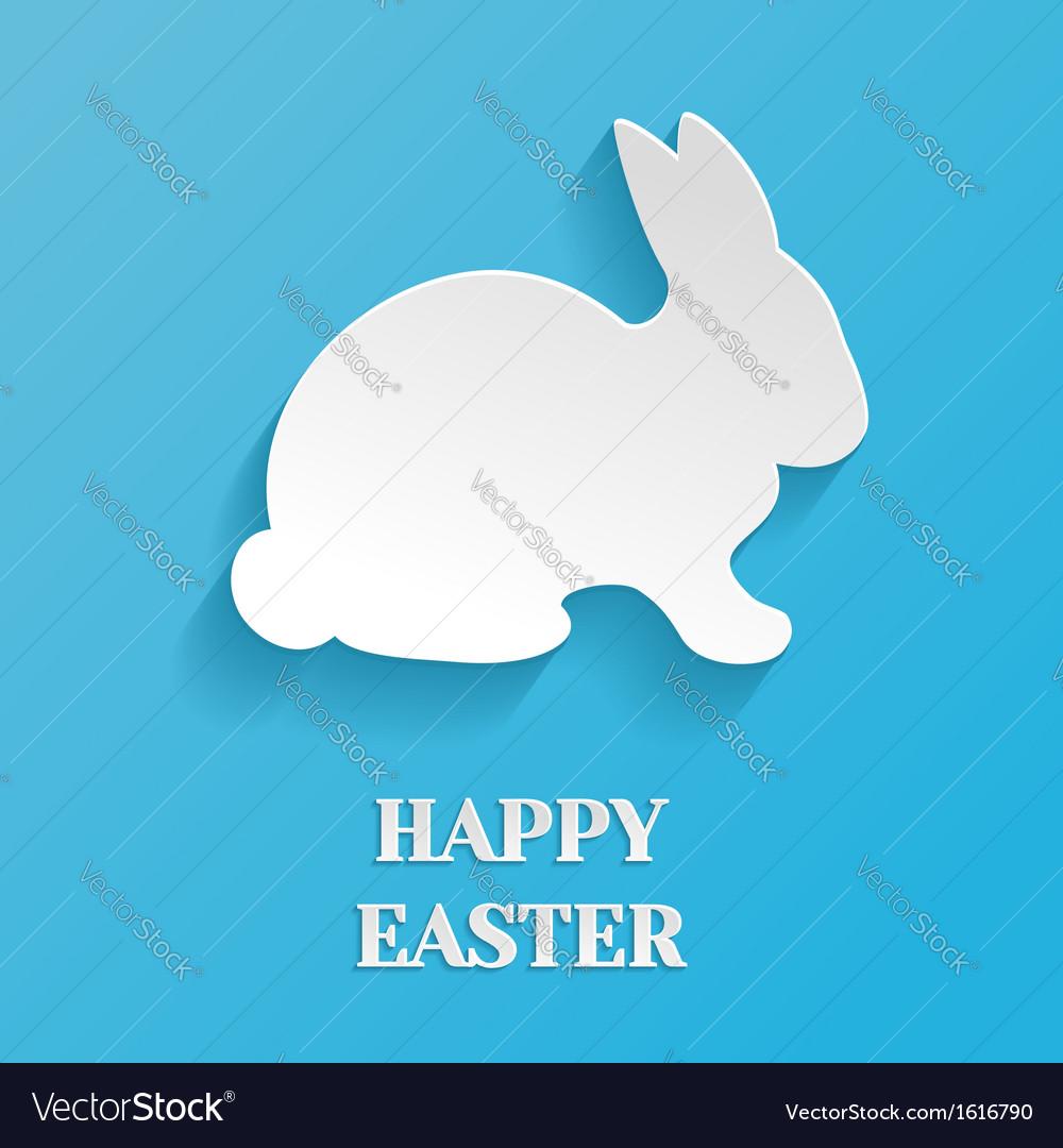 Happy easter rabbit bunny vector