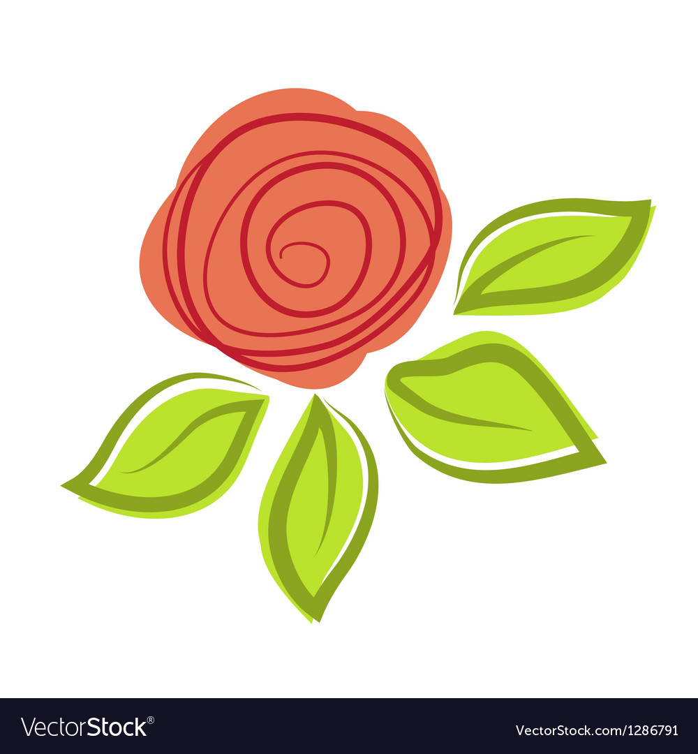 Abstract rose flower vector