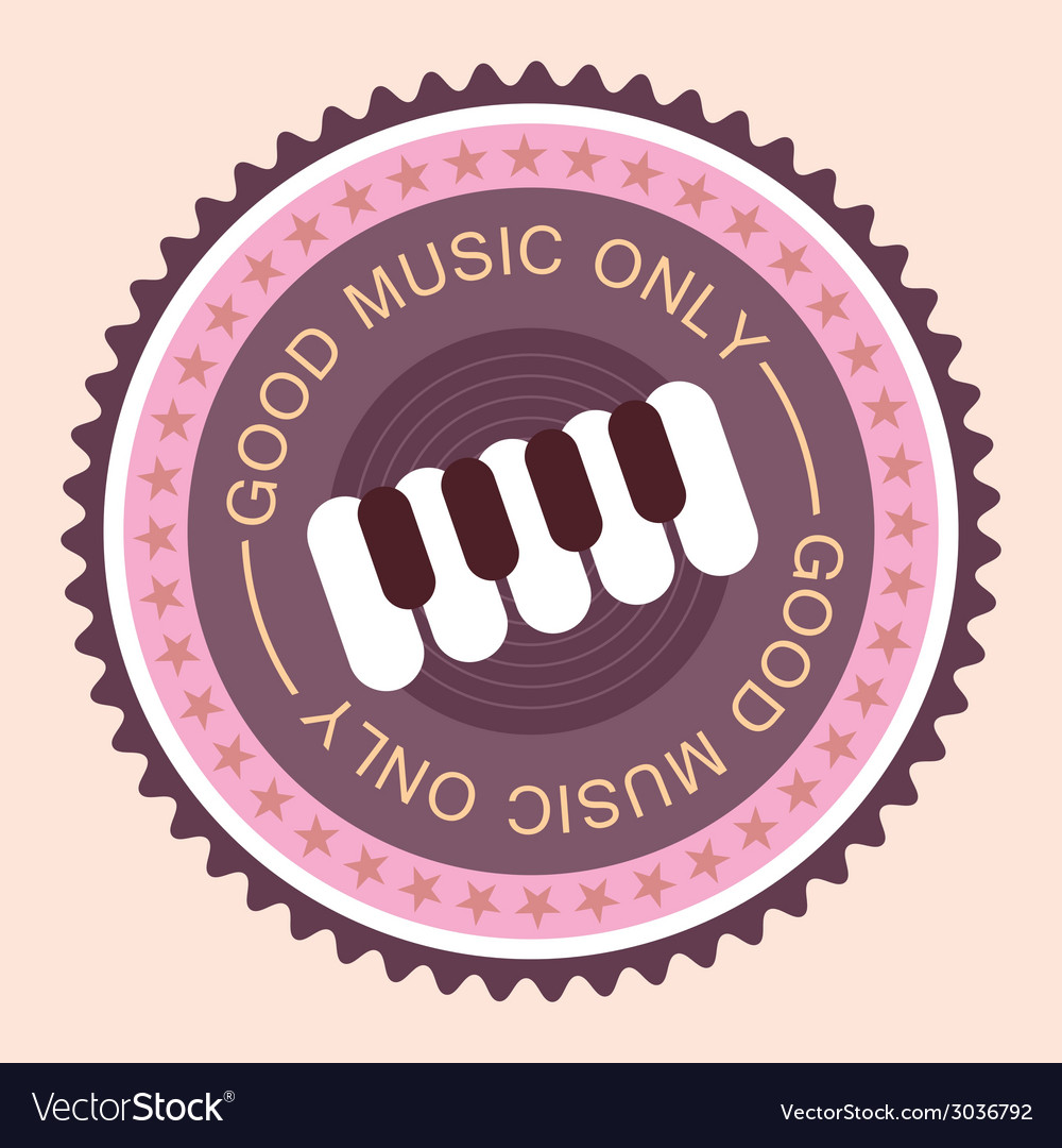 Good music with piano vector