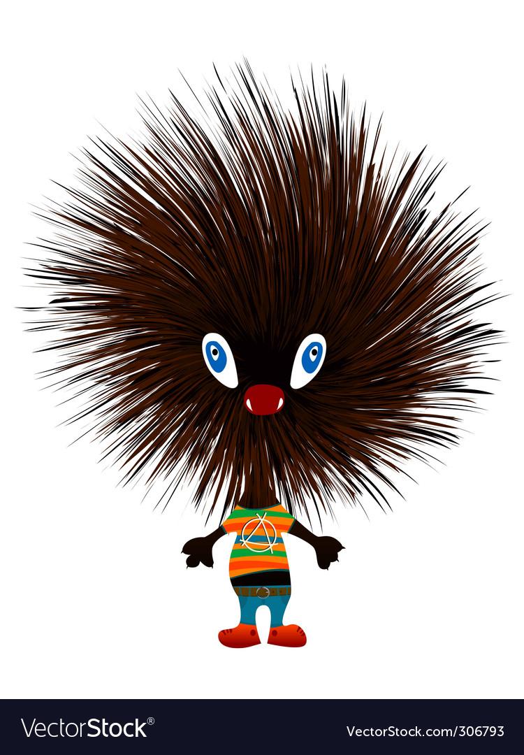 Hedgehog punk vector