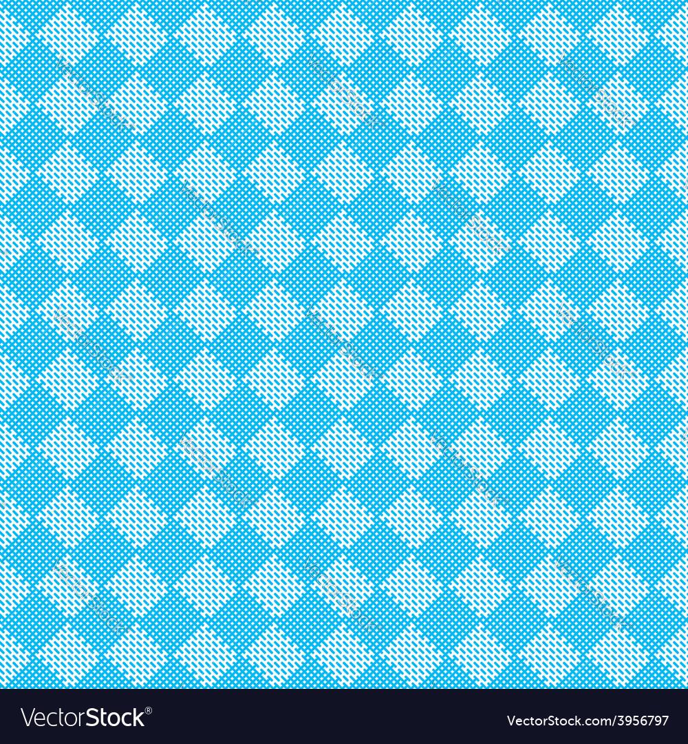 Diagonal blue seamless fabric texture pattern vector