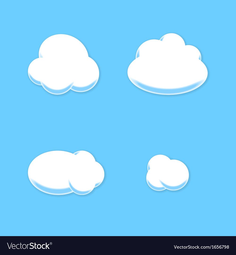 Comic cloud set cartoon style vector