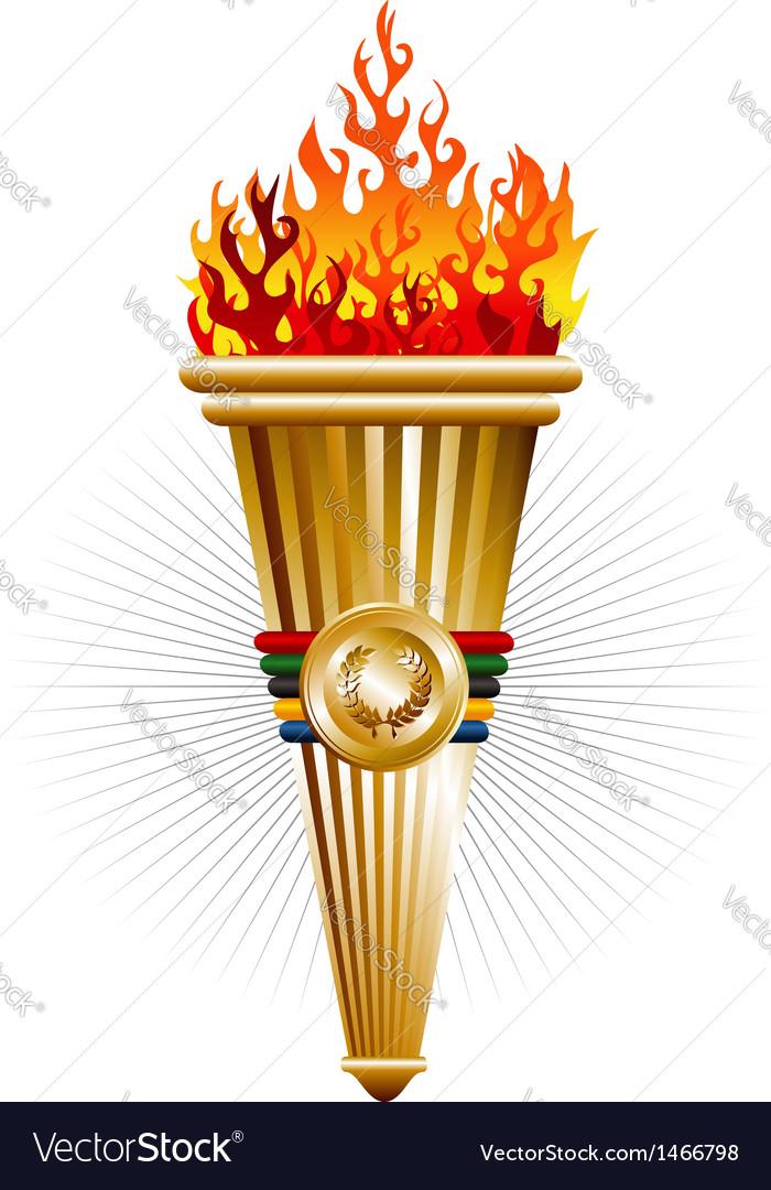 Sports antorcha triumph vector
