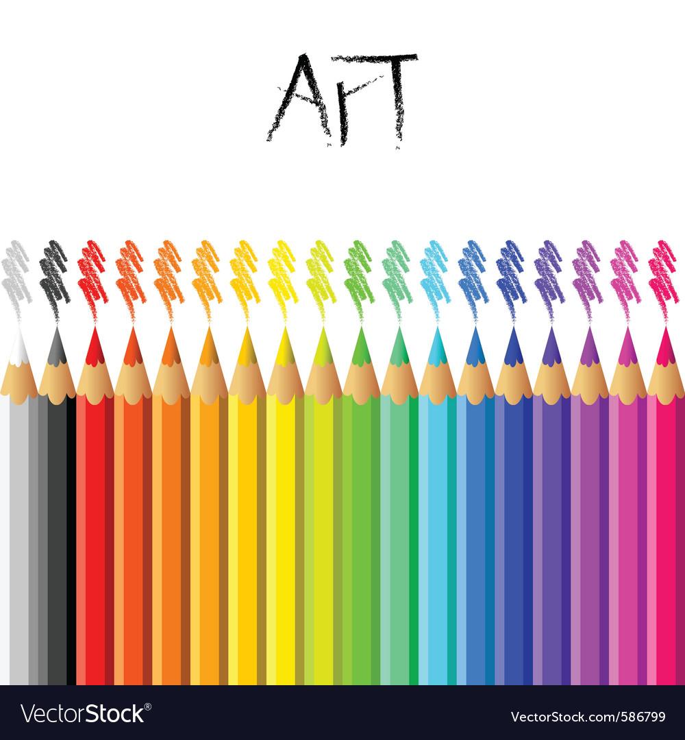 Pencil background vector