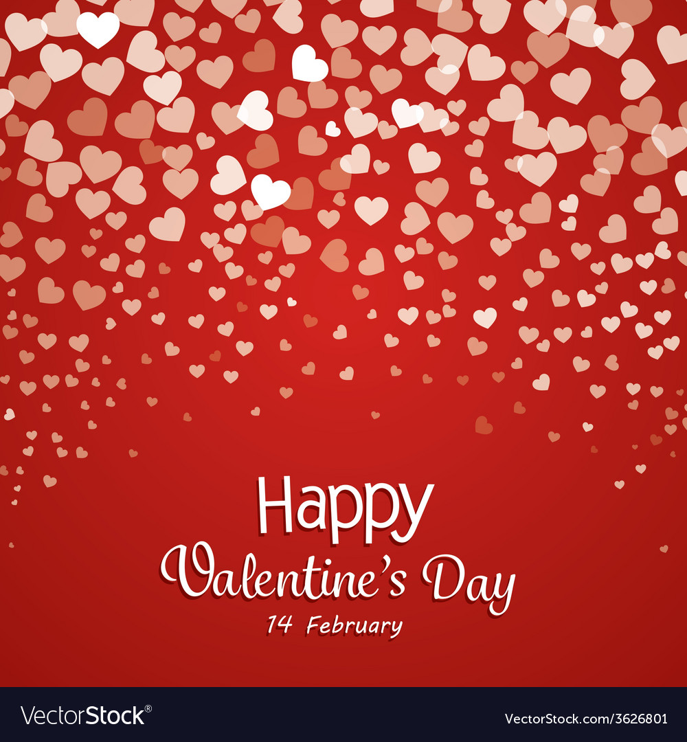 Happy valentines day cards vector