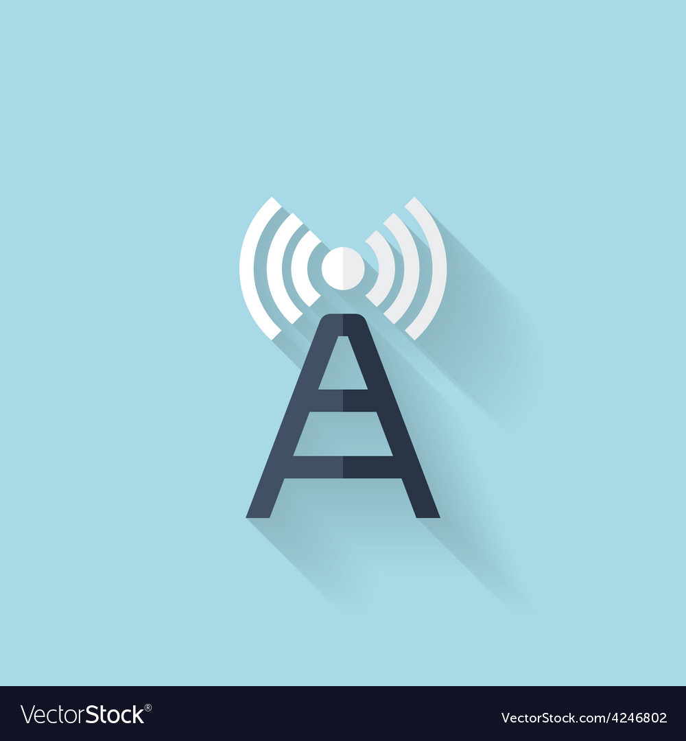 Flat web icon wireless router vector