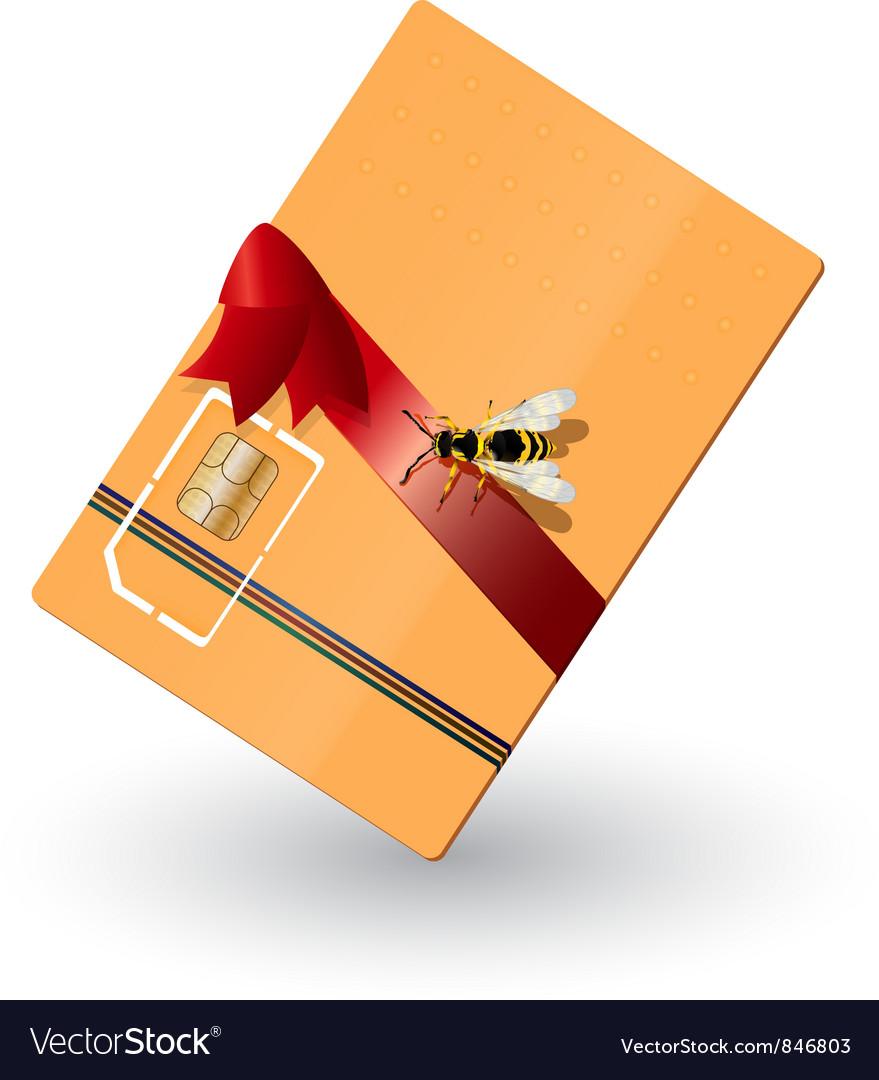 Phone card vector