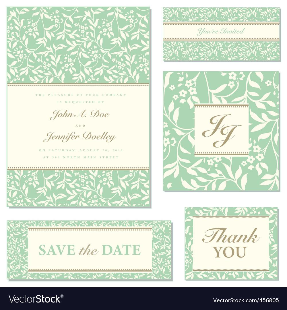 ivy wedding frame set01 vector