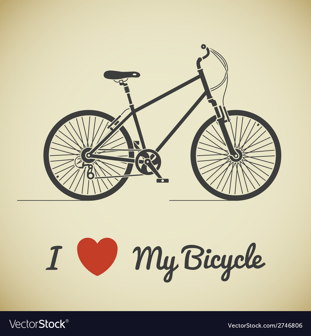 Bicycle ant text vector