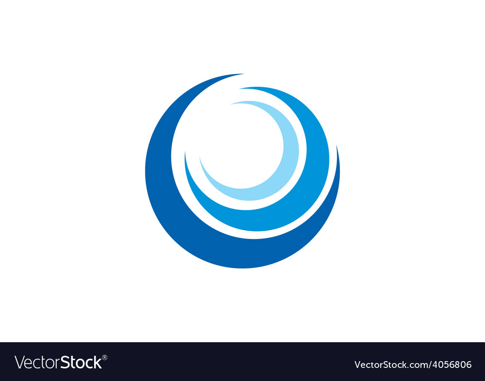 Circle swirl wave abstract logo vector