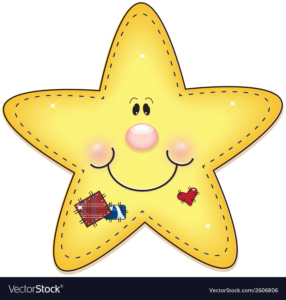 Happy little star vector