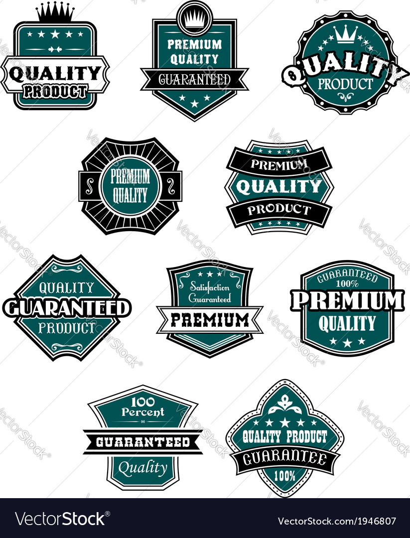 Retro labels set for retail industry vector