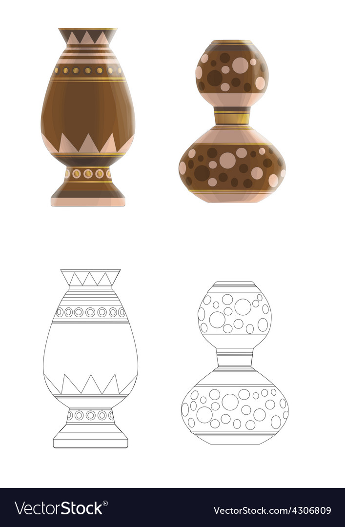 Crockery two vector