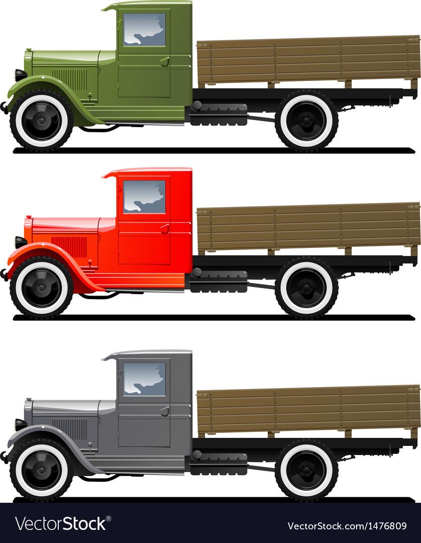 Retro lorry isolated vector