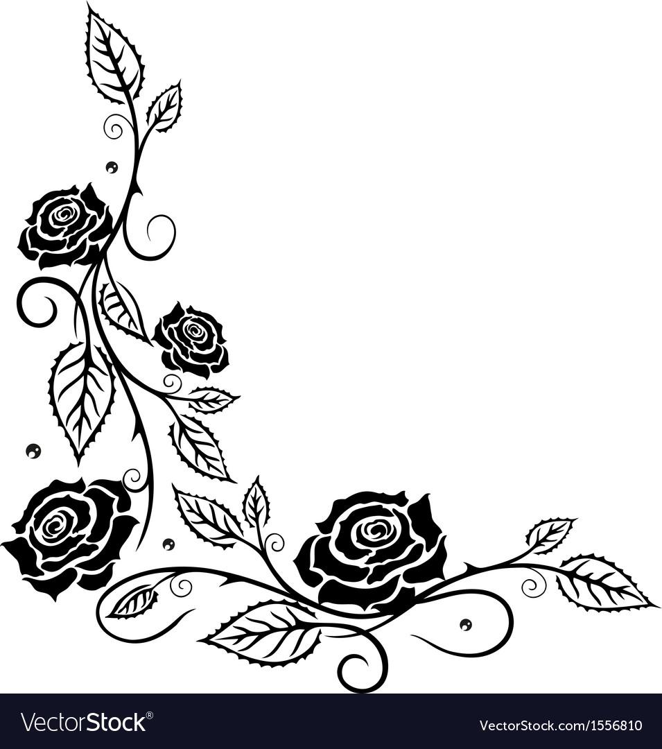 Rose leaf love vector
