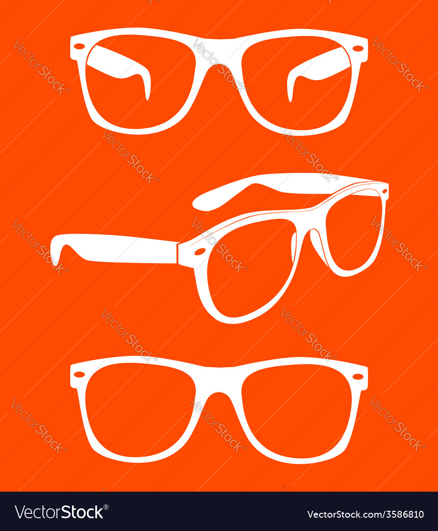 Set of sunglasses vector