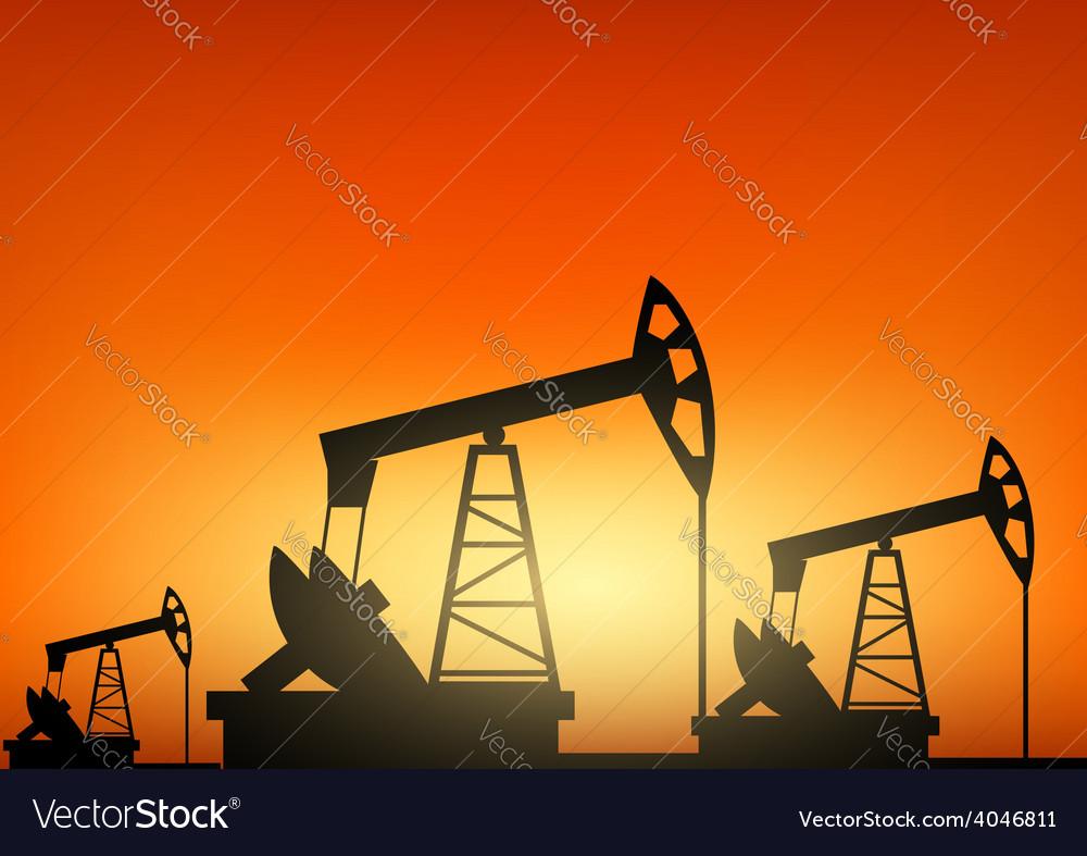 Oil pump oil rig energy industrial machine vector