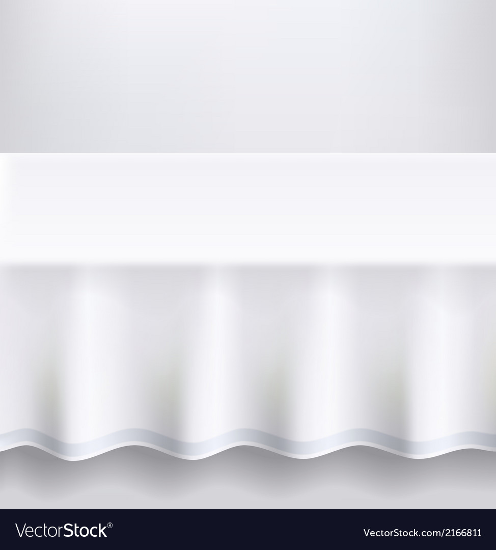 Table with a white cloth vector