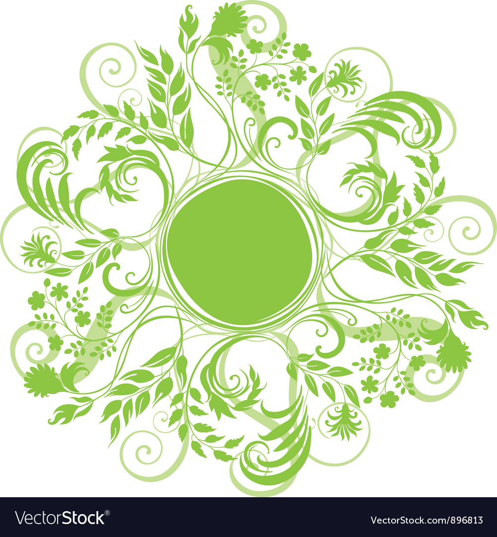 Curly round grass vector
