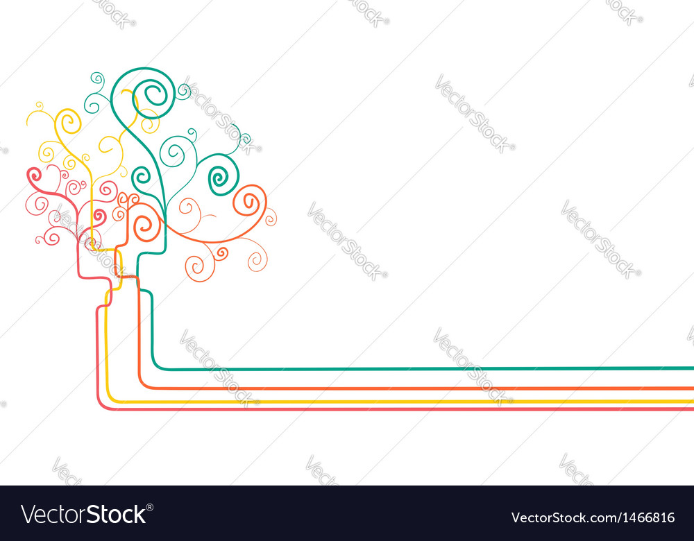 Abstract concept tree background vector