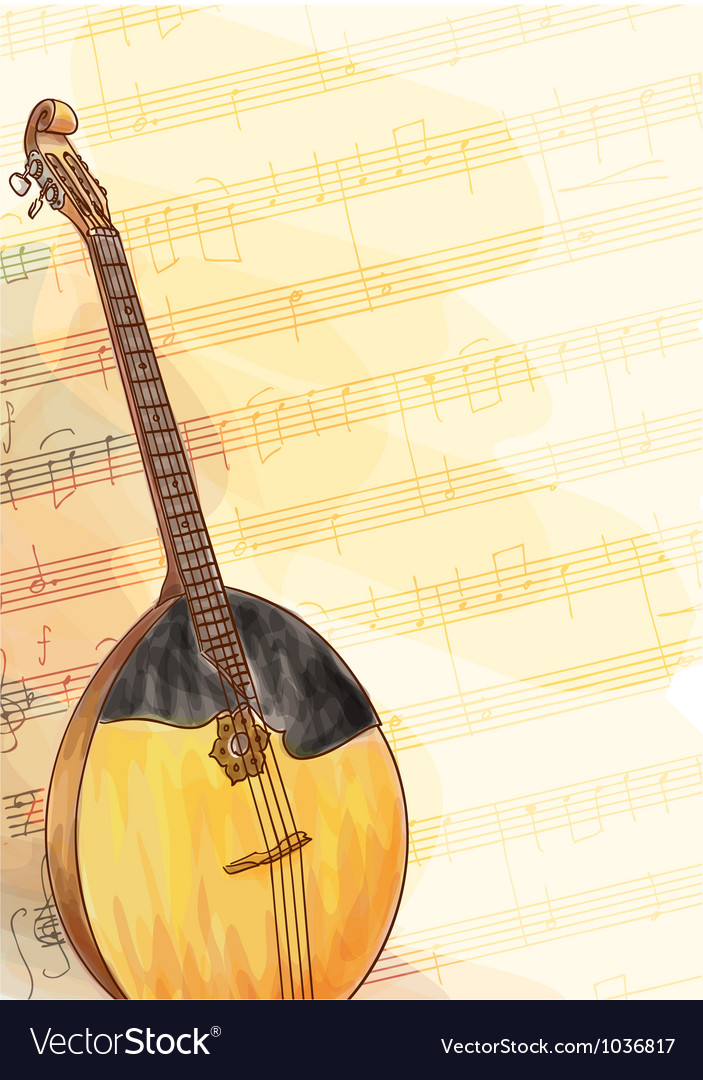 Slavic traditional musical instrument - domra vector