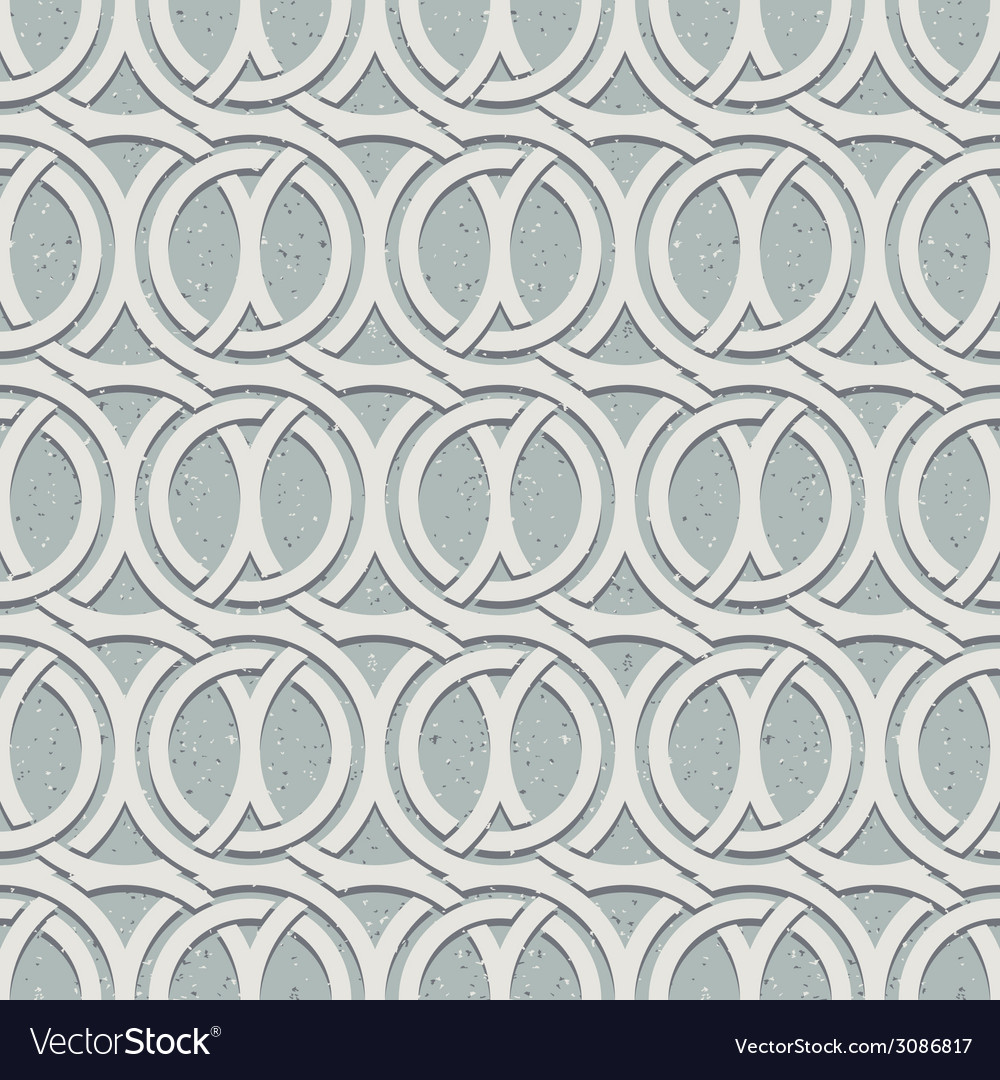 Vintage style seamless pattern with dirty grunge vector