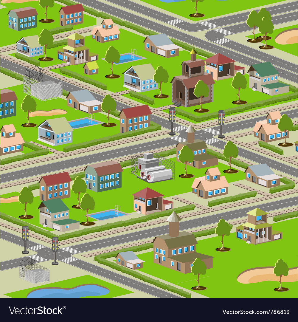 Highways small town vector