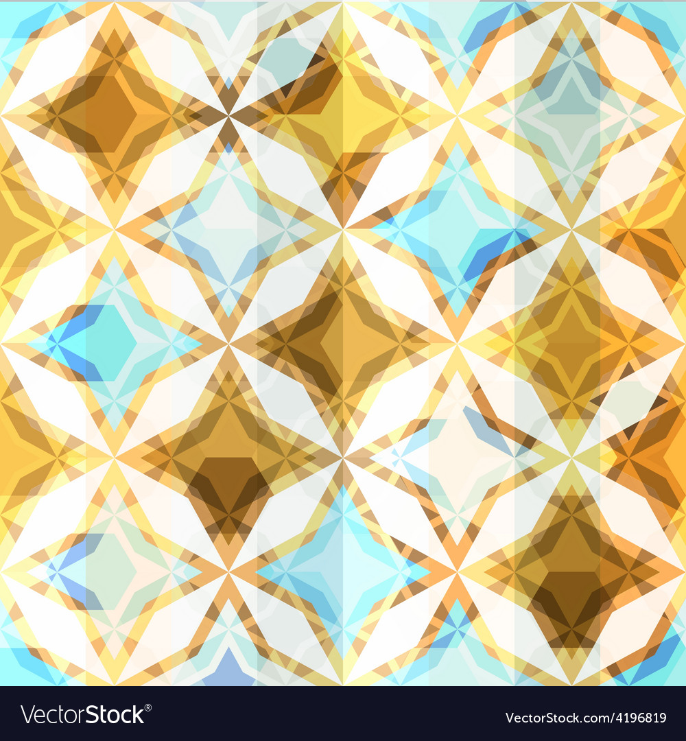 Vintage mosaic star seamless vector