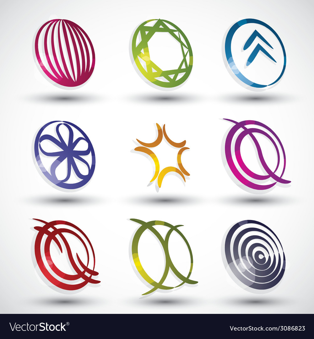 Abstract modern style icons 2 vector