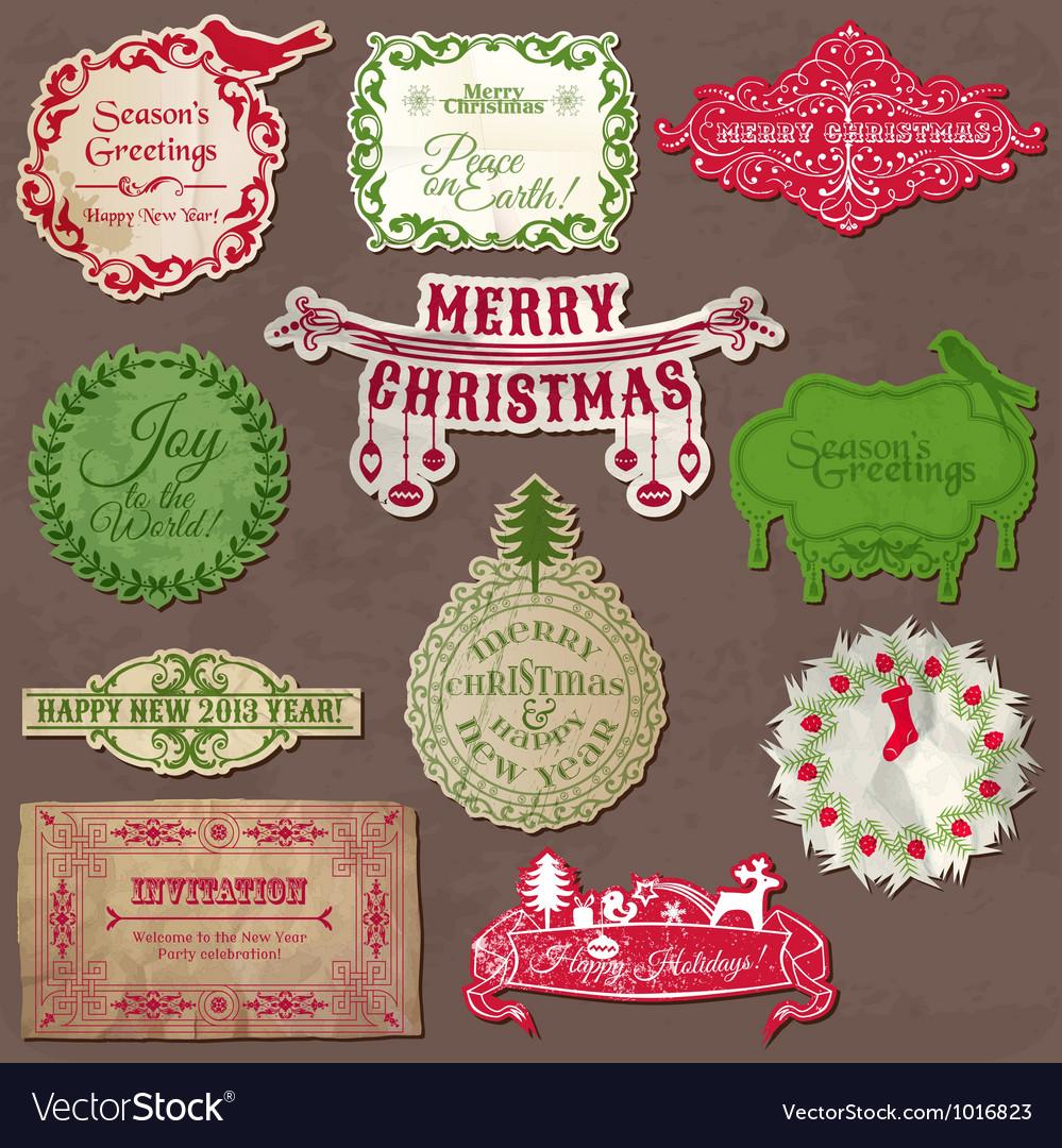 Christmas calligraphic design elements vector