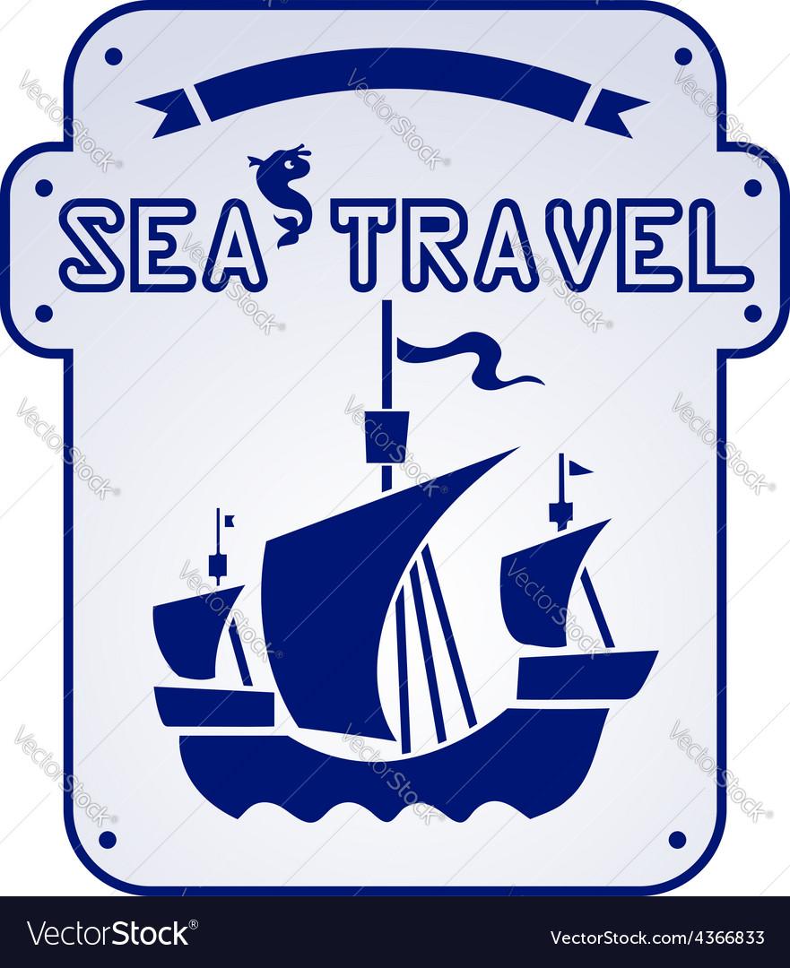 Sea travel vector