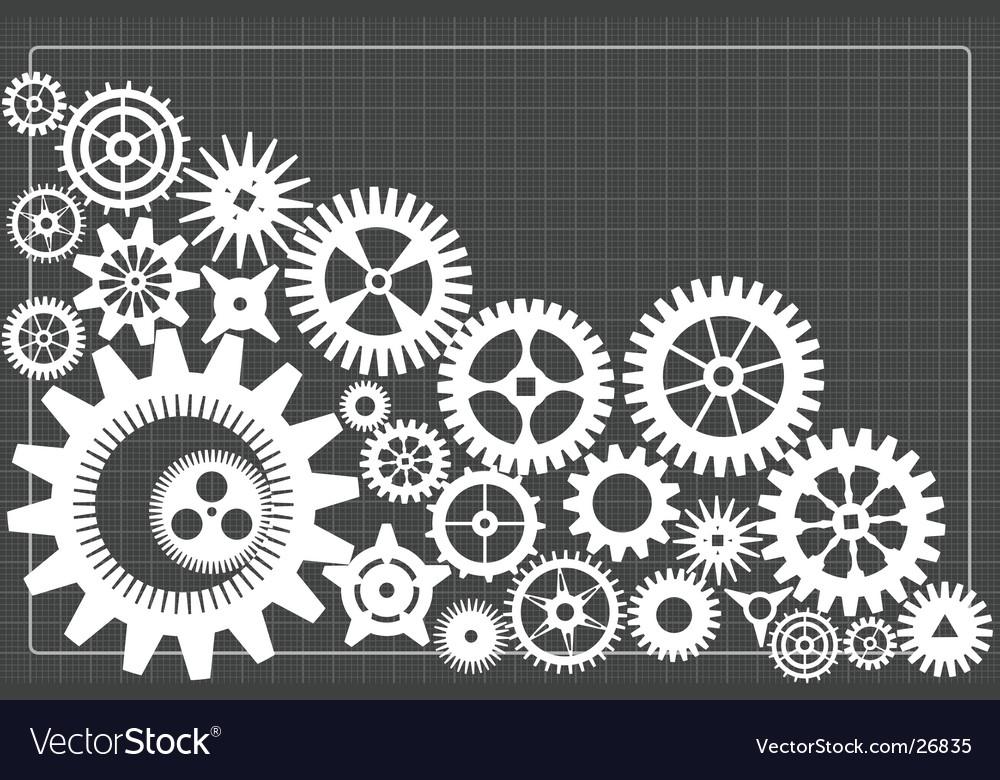 Gearwheels background vector