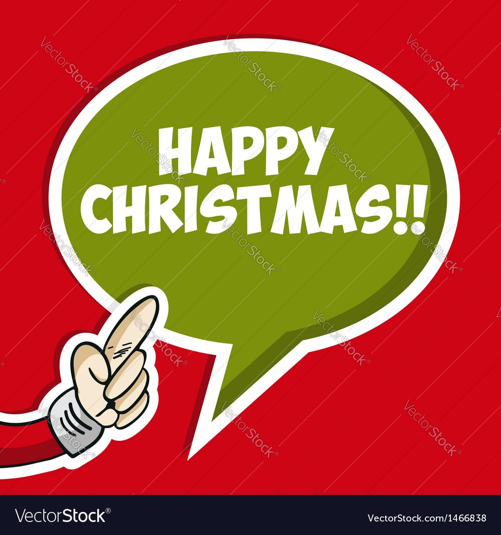 Happy christmas sticker bubble vector