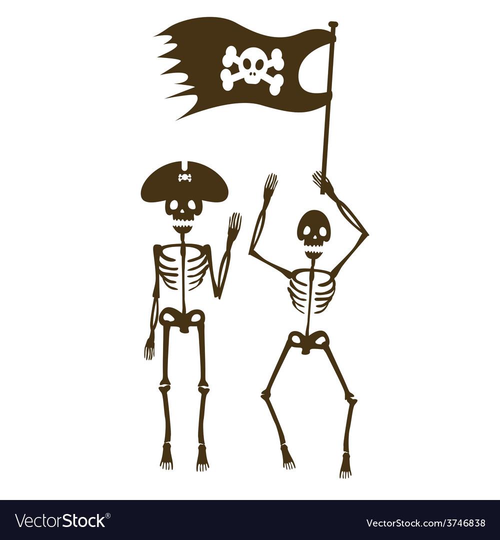 Pirates sceletons vector
