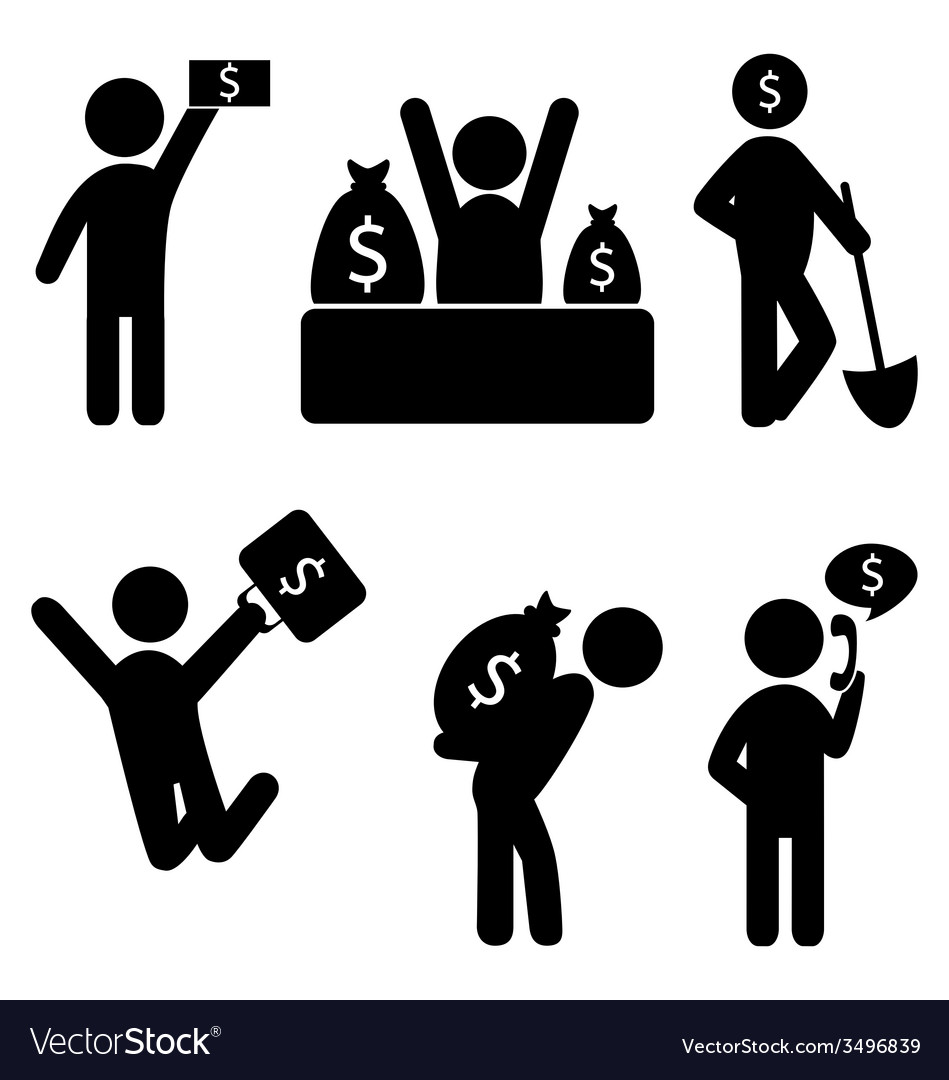 Business finance icons vector