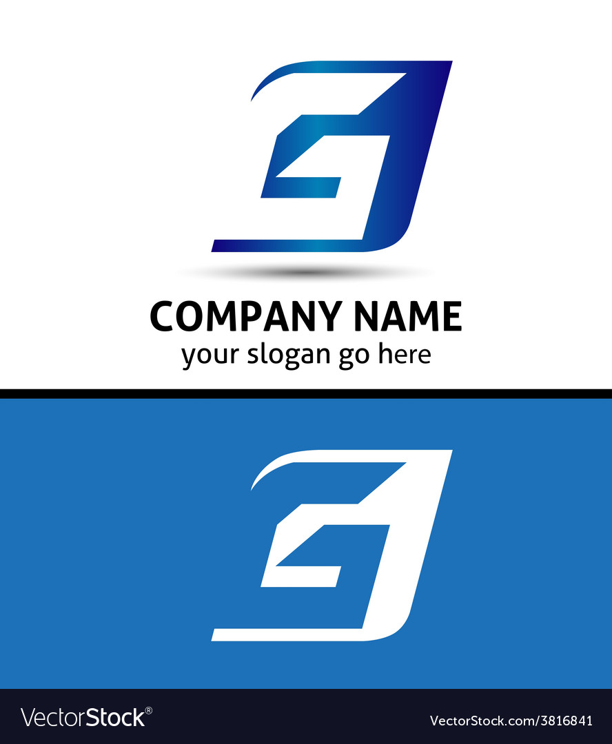 Letter g company logo icon template set vector