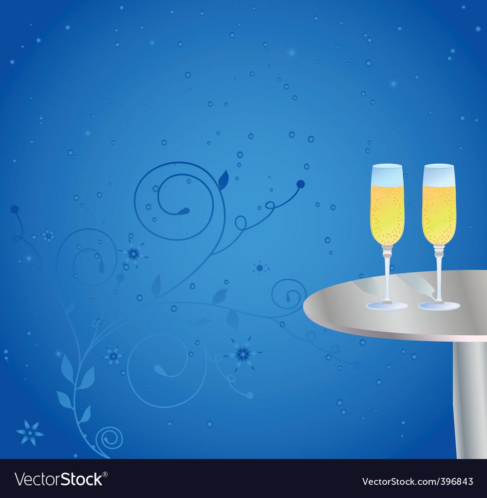 Champagne celebrations vector