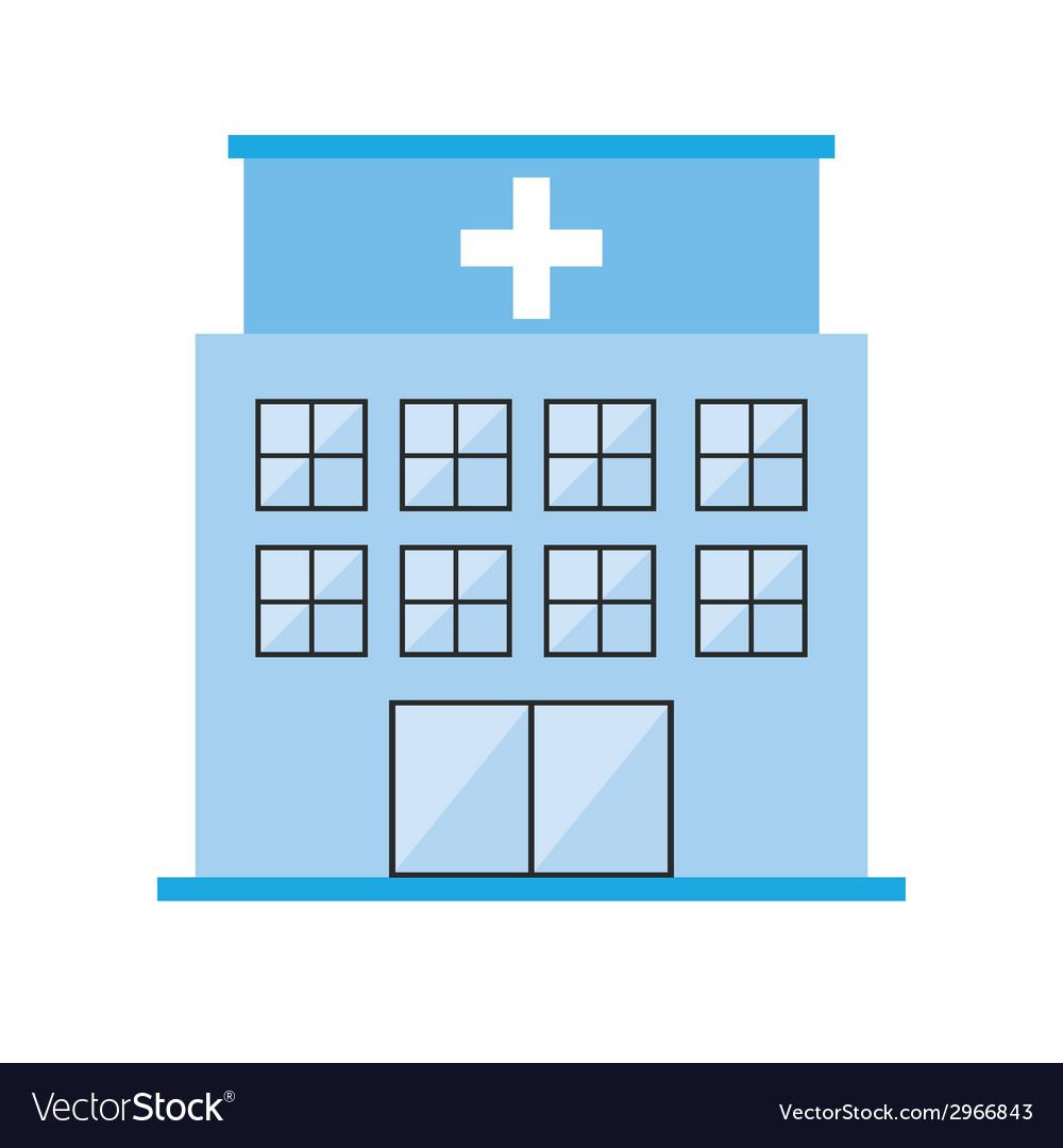 Hospital design vector