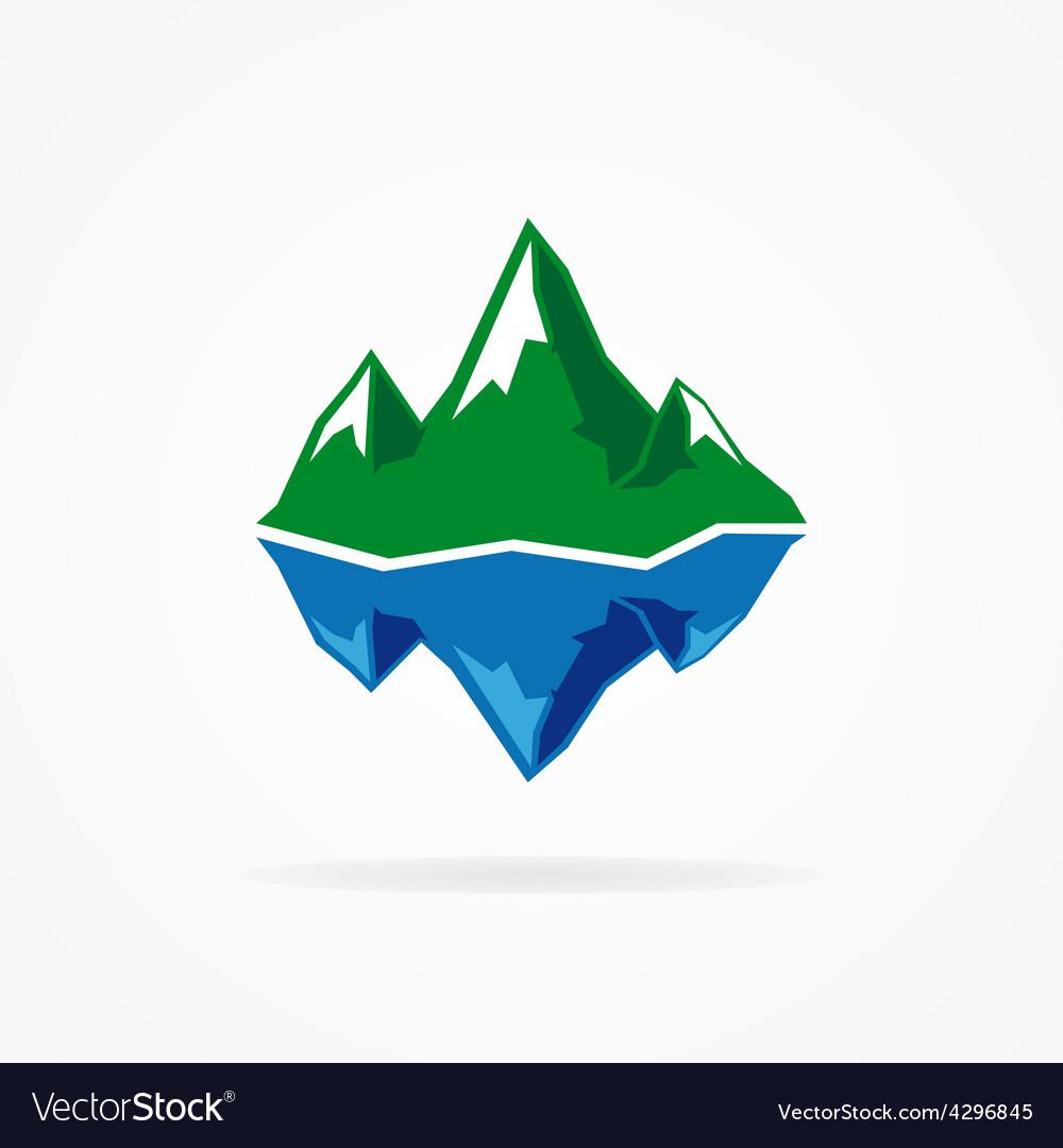 Logo of the mountain and iceberg vector