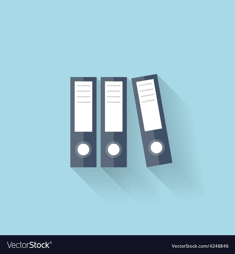 Flat web icon documents paper folder vector