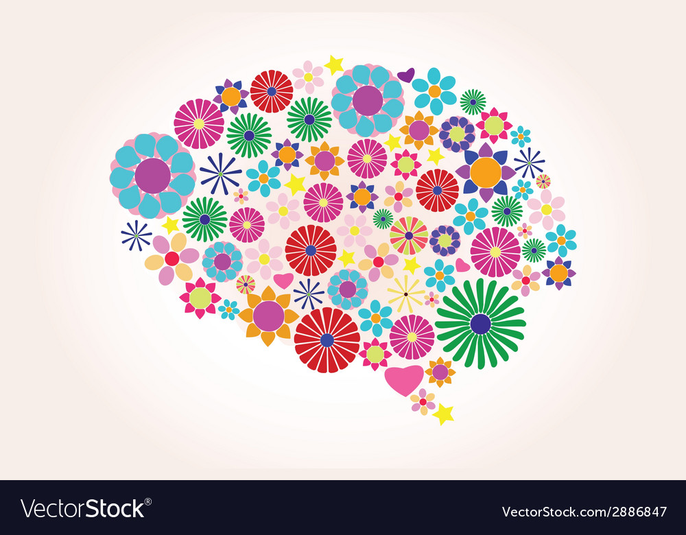 Abstract human brain creative vector