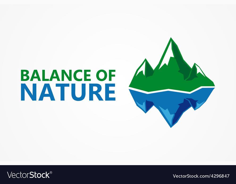 Balance of nature mountain and iceberg vector