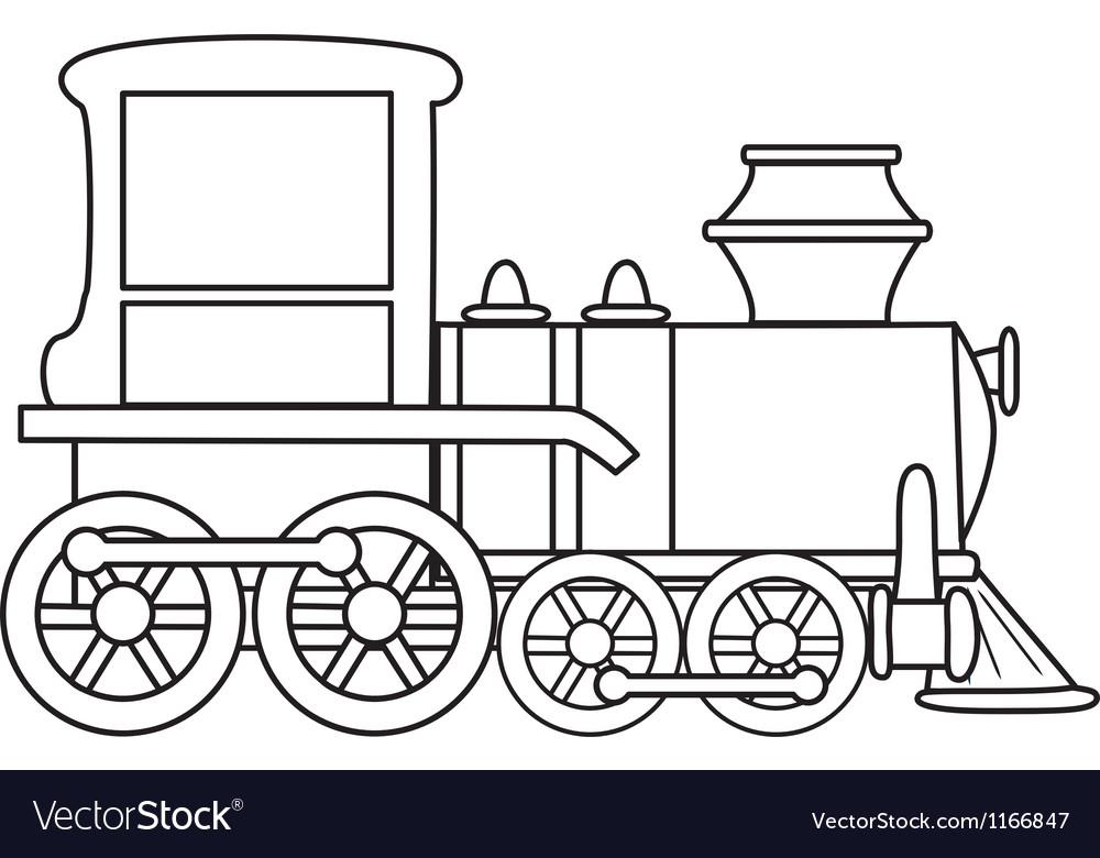 Cartoon train vector