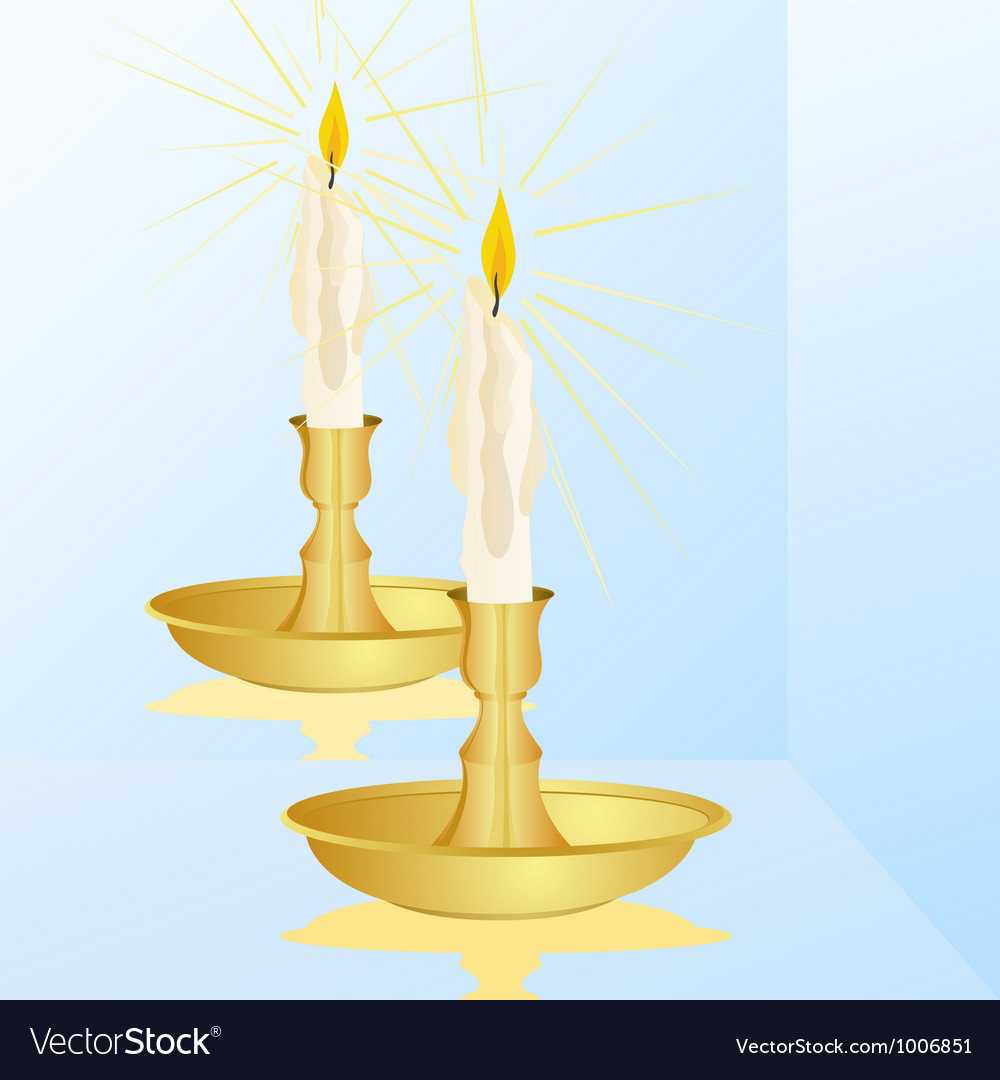 A candle and a mirror vector
