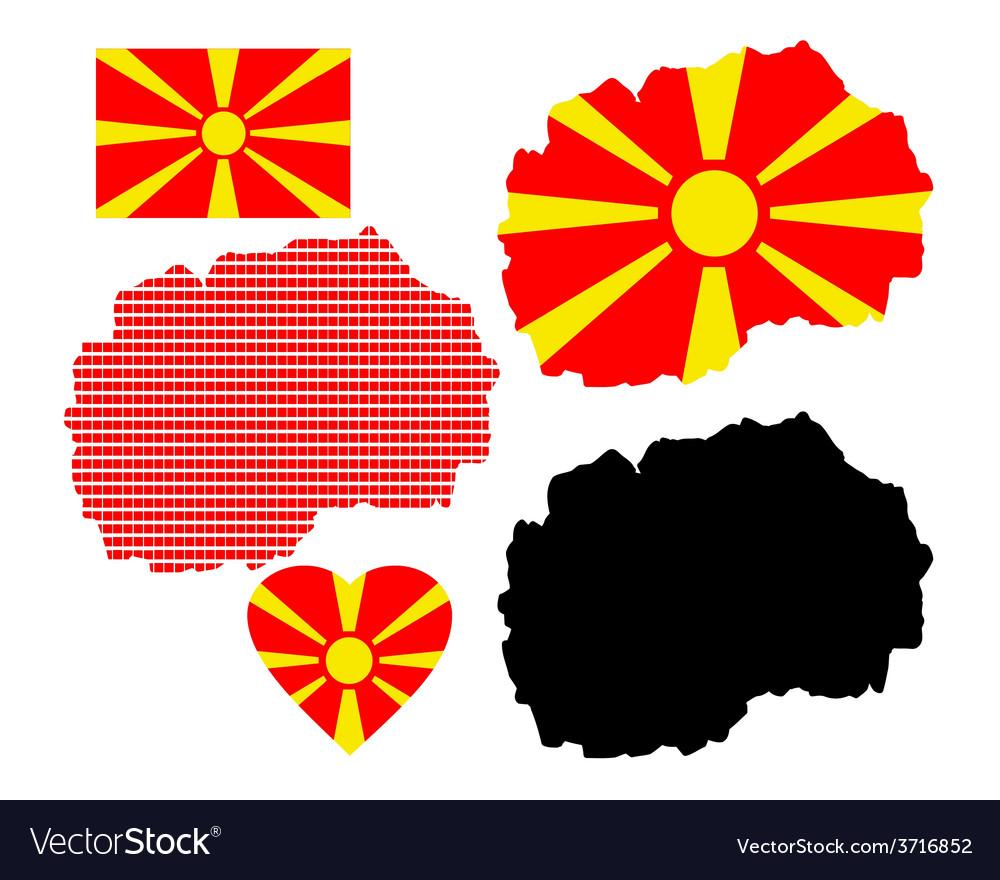 Map of macedonia vector